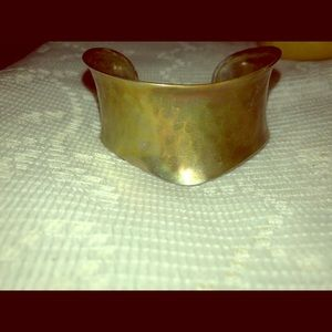 Vintage brass wide  cuff bracelet made in India